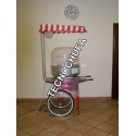 STAINLESS STEEL CART FOR COTTON CANDY MACHINE WITH CANOPY AND LIGTH