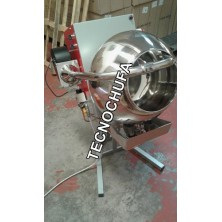 PRALINE ROASTER MACHINE TECNO 500 WITH FORCED AIR COOLING AND SPEED VARIATOR - 60 LITERS/HOUR
