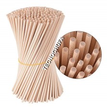 BOX OF 2500 ROUND WOODEN STICKS 400 X 5 X 5 MM - 10 KGS