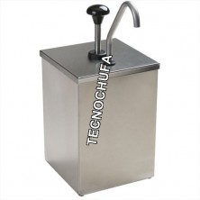 TOPPING DISPENSER SIMPLE INOX WITH PUMP STAINLESS STEEL