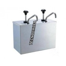 TOPPING DISPENSER DOBLE INOX WITH PUMP STAINLESS STEEL