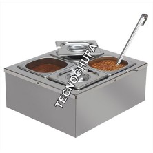 SAUCE DISPENSER BAIN MARIE QUATRO STAINLESS STEEL