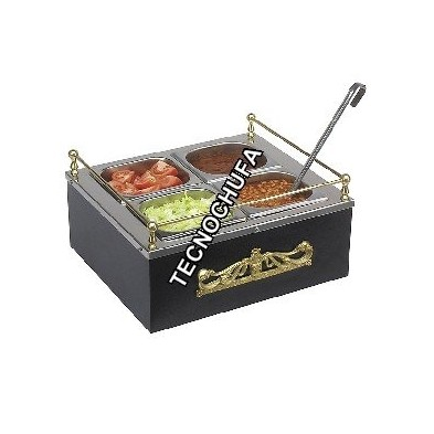 SAUCE DISPENSER HOT AND CHILLED DUAL BLACK